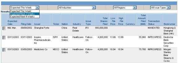 Equity deals database